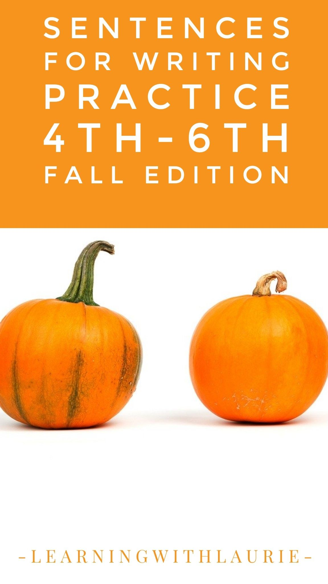 Sentences For Writing Practice 4th 6th Fall Edition In