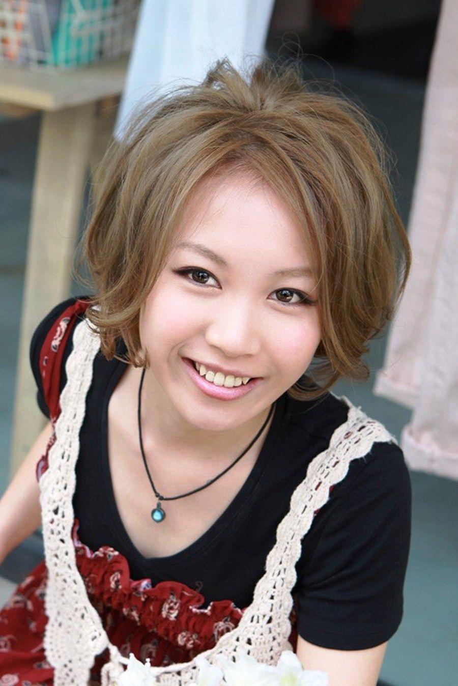 Short Messy Japanese Bob Haircut Hair Styles Pinterest