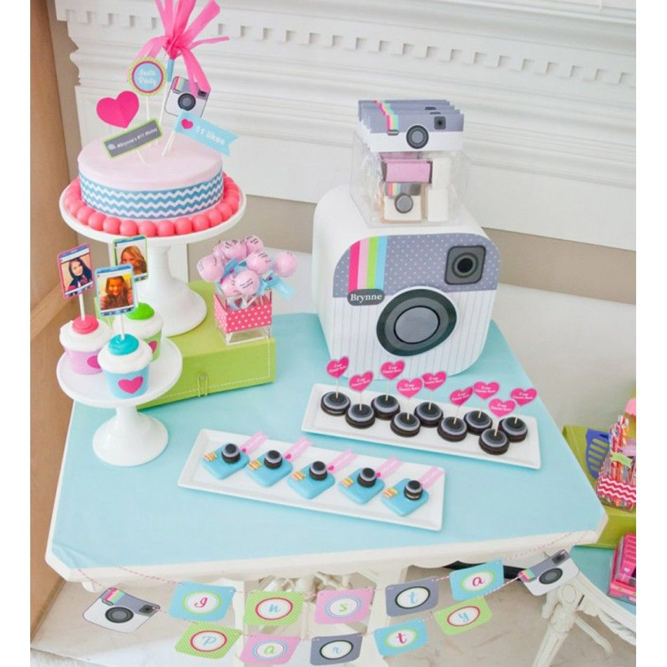 Insta Party Teen Tween Birthday Party Customized Camera