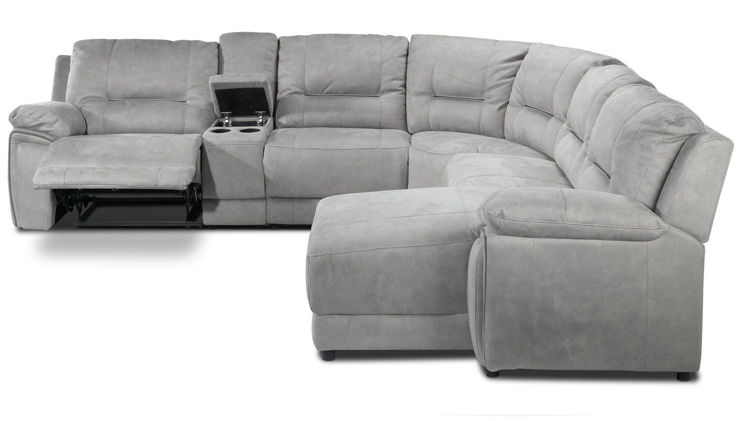 leon s mackenzie sofa mint green chair pasadena 6 pc reclining sectional with chaise design
