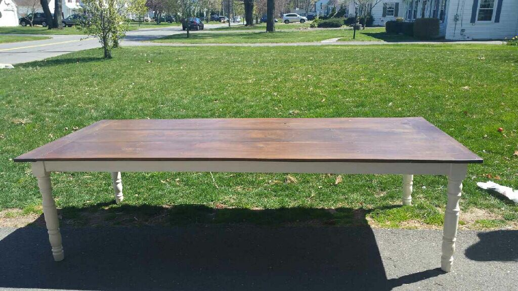 Custom built farm table by KAS vintage finds and designs