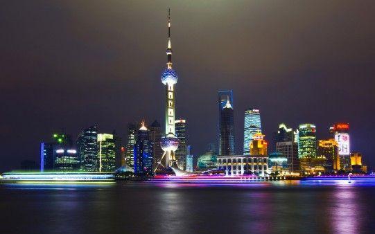 Shanghai At Night Free Hd Desktop Backgrounds Wallpapers Wallpapering Info Fotografia Nocturna Larga Exposicion Fotografia