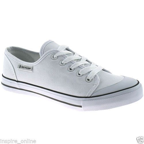NEW LADIES WOMENS GIRLS FLAT SLIP ON PLIMSOLLS PUMPS CANVAS TRAINERS SHOES SIZE