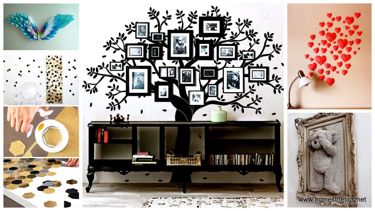 Further on we have prepared a collection of 46 Inventive DIY Wall Art Projects And Ideas which, we hope, will inspire you and make you want to start a DIY project right away.