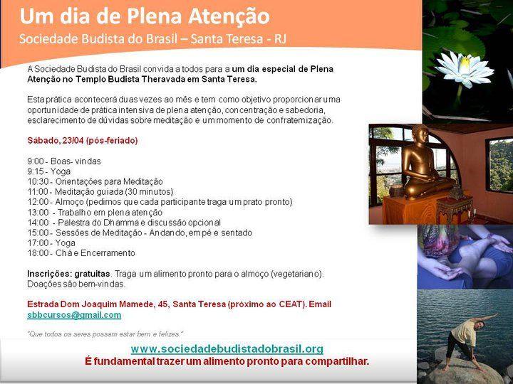 Sábado meditativo em Santa Teresa | Sociedade Budista do Brasil