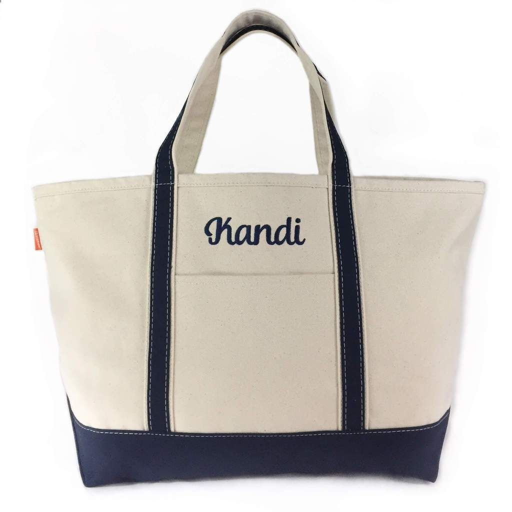 648c5bf4ba Large Canvas Boat Tote - Navy