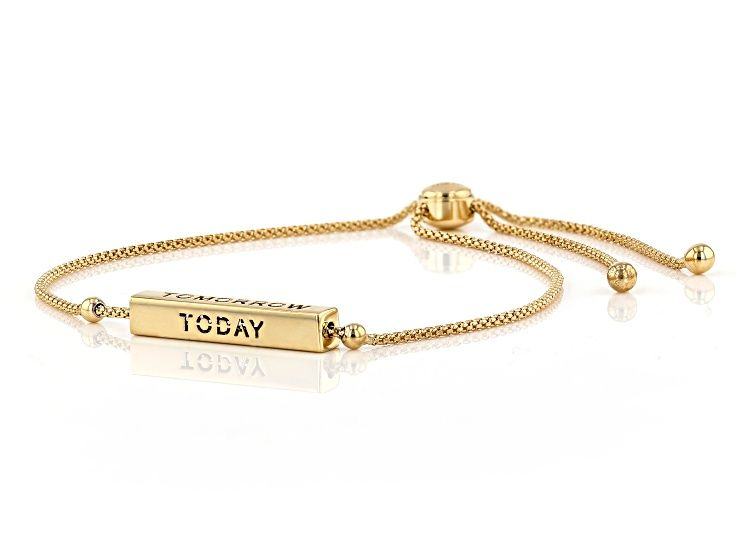 10kt Yellow Gold Bar Today Tomorrow Forever Slider Bracelet 10 Au686 In 2020 Gold Bar Gold Yellow Gold