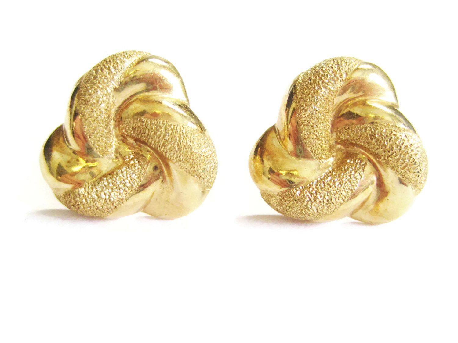 14K Yellow Gold Textured Beverly Hills Gold Post Earrings Products