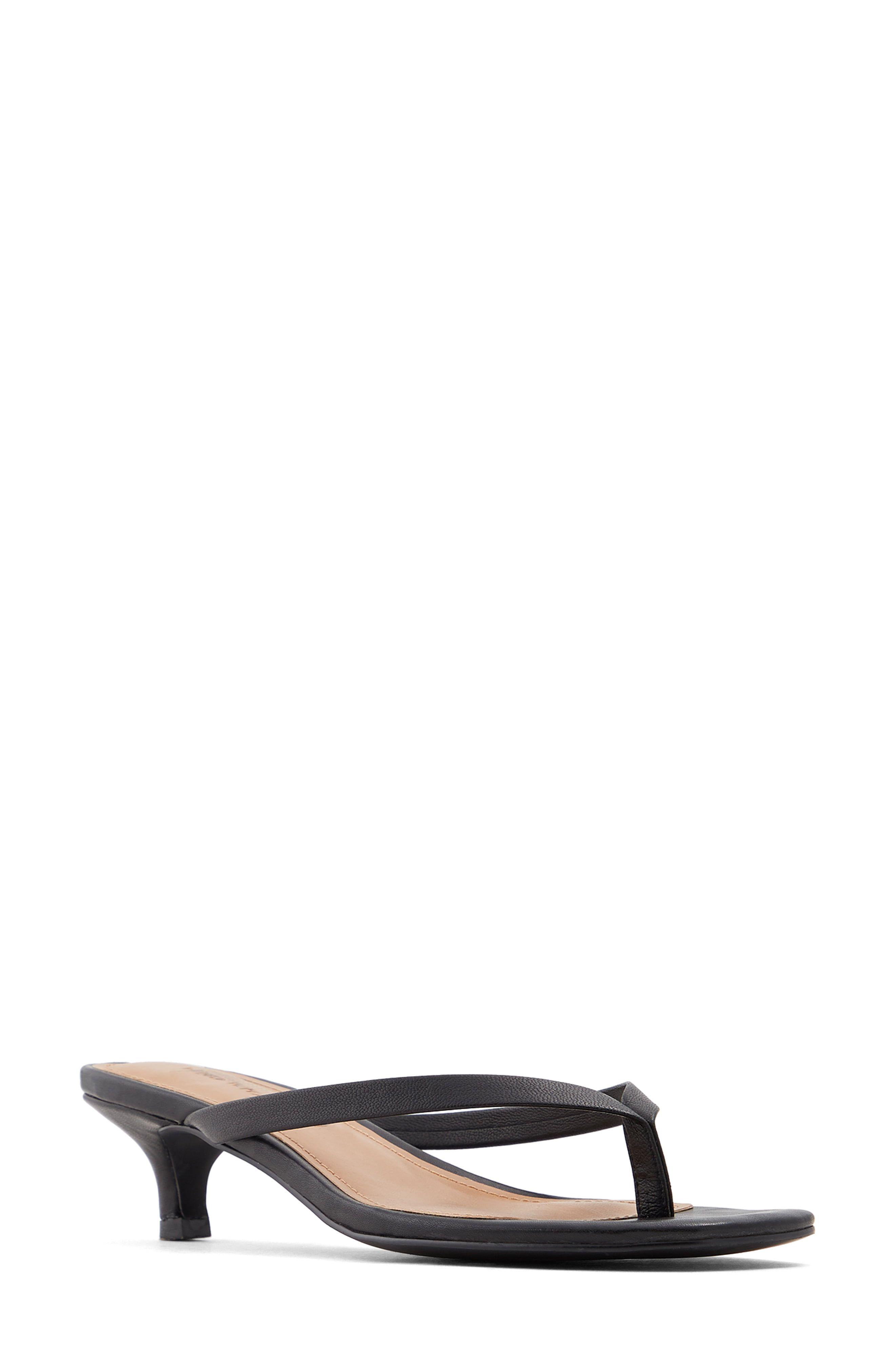 Women S Who What Wear Siena Kitten Heel Sandal Size 6 M Black