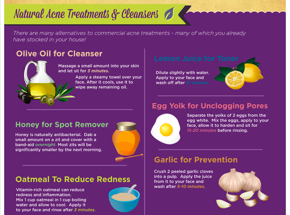 Infographic Natural Acne Treatments Cleansers Natural Acne Treatment Natural Acne Acne Treatment