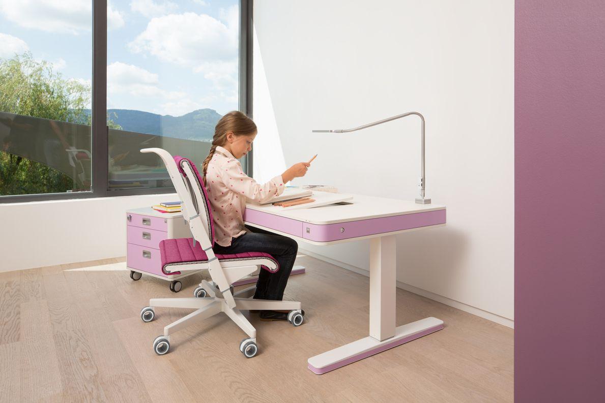 moll t7 kinderschreibtisch kinder und jugendm bel elektrisch h henverstellbar mitwachsen. Black Bedroom Furniture Sets. Home Design Ideas
