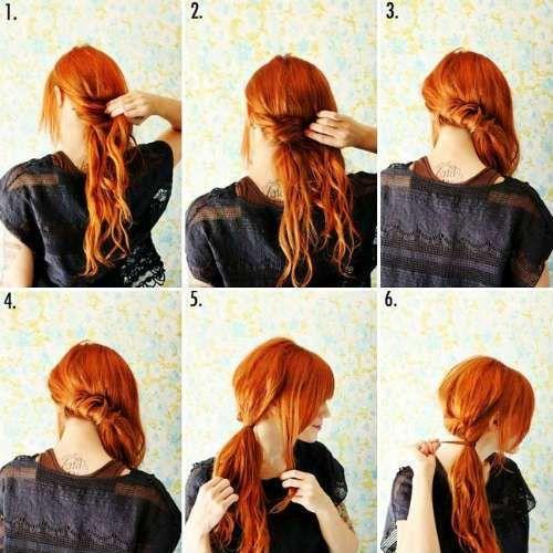 einfache frisuren für langes haar - mode und kleidung