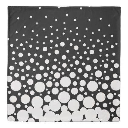 Black And White Polka Dots Duvet Cover Zazzle Com Polka Dot Duvet Duvet Covers Stylish Duvet Cover