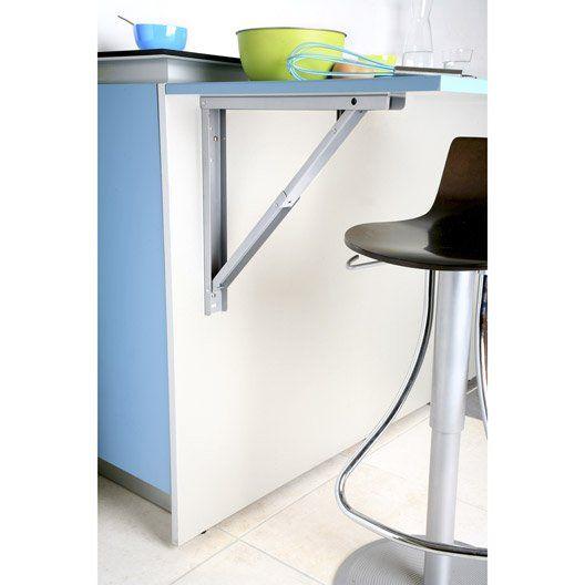 Support pour table rabattable L.7 x l.44 cm | bureau | Pinterest