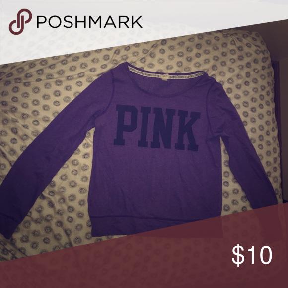 Victoria's Secret Pink Crew Neck Victoria's Secret PINK Purple Cre Neck. Tops Tees - Long Sleeve