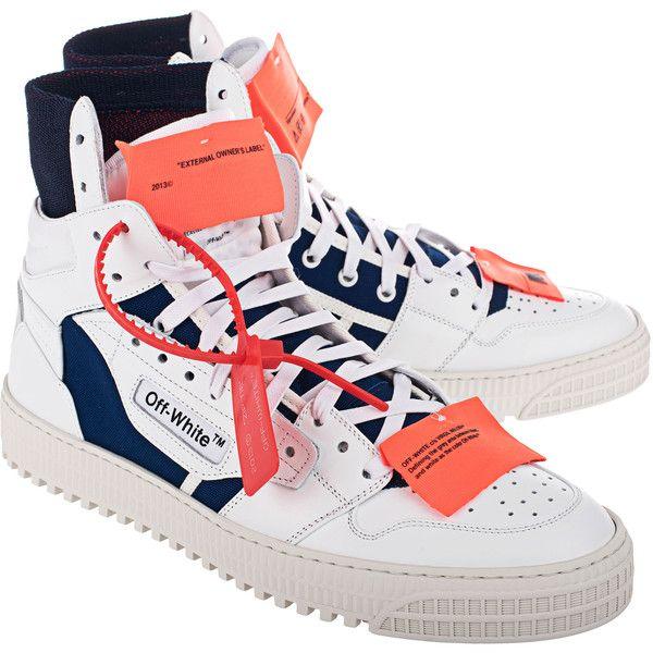 6b70620e18c0d7 OFF-WHITE C O VIRGIL ABLOH Low 3.0 Blue White    High-top sneakers ...