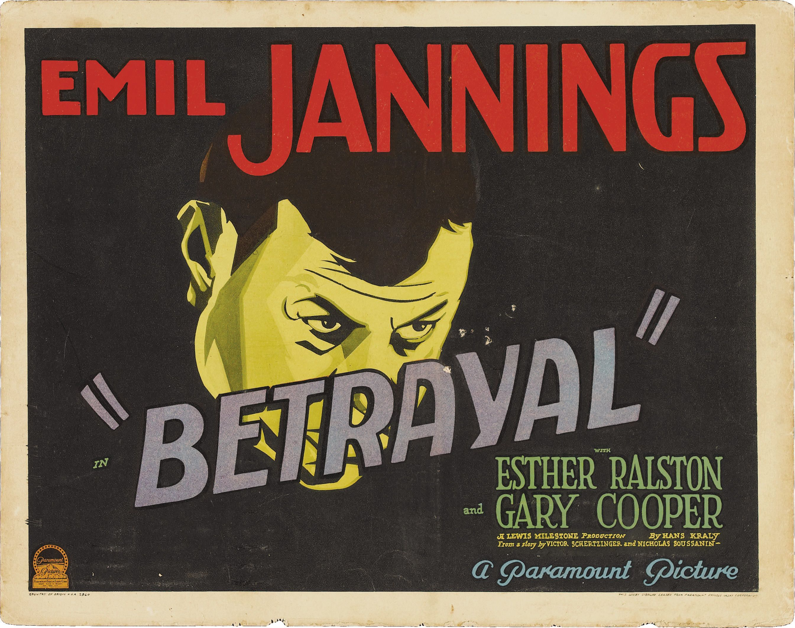 Betrayal with Esther Ralston, Gary Cooper, and Emil Jannings 1929