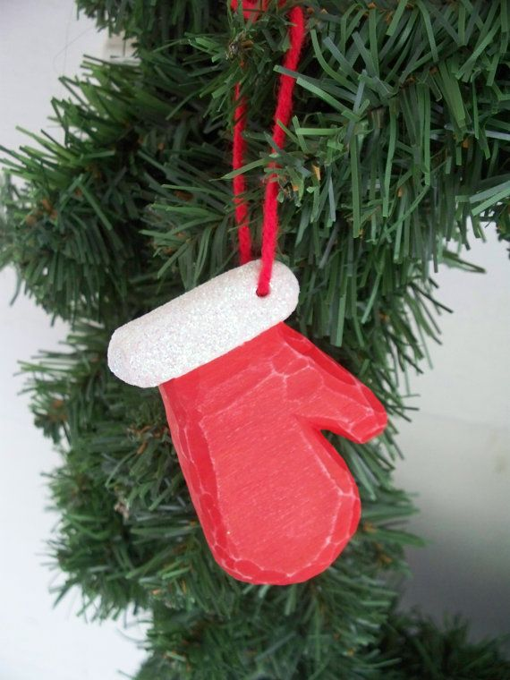 Hand Carved Christmas Mitten Ornament by DGCreative on ...