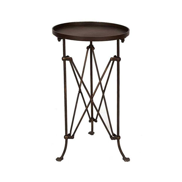 "In Character Round Side Table  25"" H x 14.24"