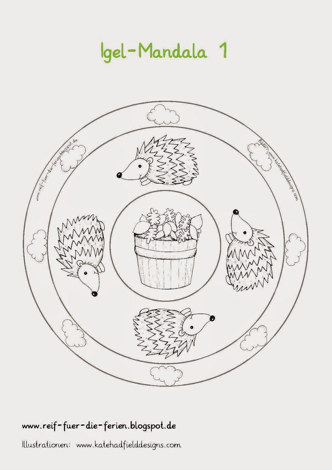 Reif Fur Die Ferien Igel Sachunterricht Kunst Mandala Igel Mandalas Ausmalbild Igel Grundschule Kostenlose M Igel Ausmalbild Igel Mandalas Zum Ausmalen