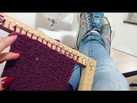 Caminho de mesa em tear - Artesanato - Ateliê Centauro - Artesã Betinha Rodrigues - YouTube