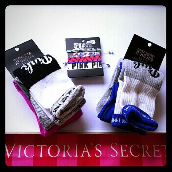 victoria secret pink Hair Ties And Bracelet
