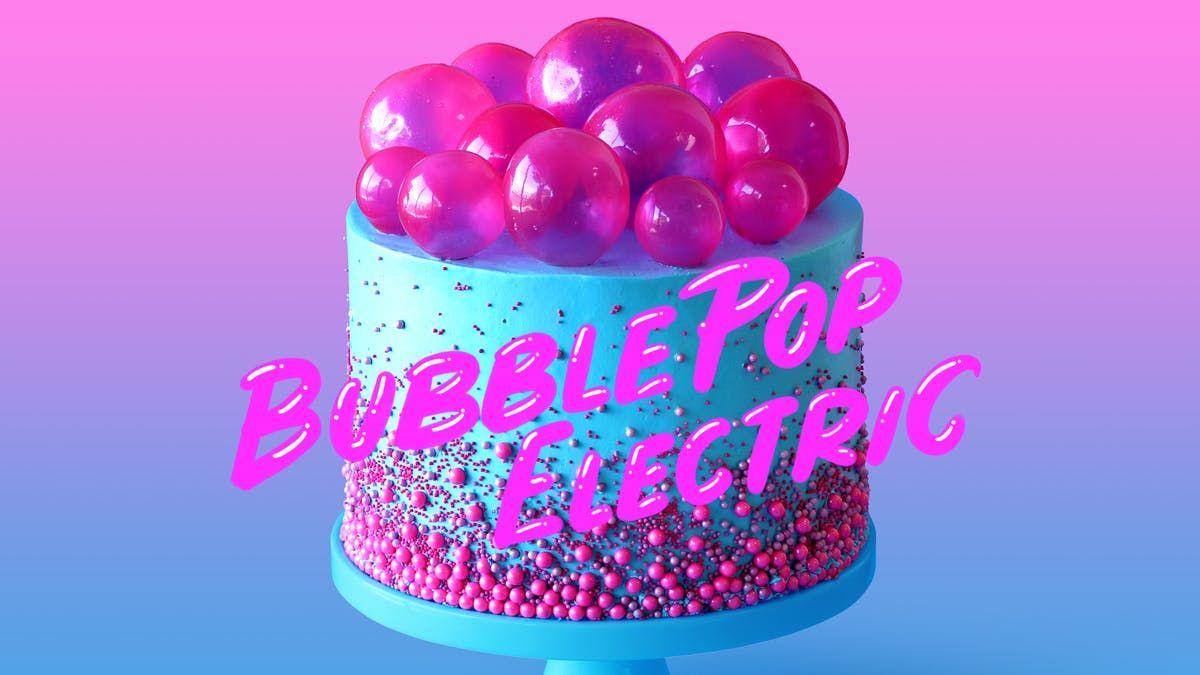 Bubble pop electric cake recipe cake gelatin bubbles