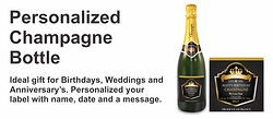 Personalized Champagne Gold Foil Labels