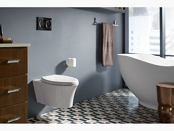 K 6299 Veil Wall Hung Toilet Bowl With Reveal Seat Kohler Wall Hung Toilet Wall Mounted Toilet Cool Walls