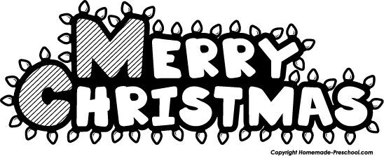 Merry Christmas Images Black And White.Merry Christmas Clip Art Black And White Baking