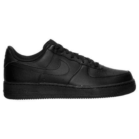 nike air force svarta låga