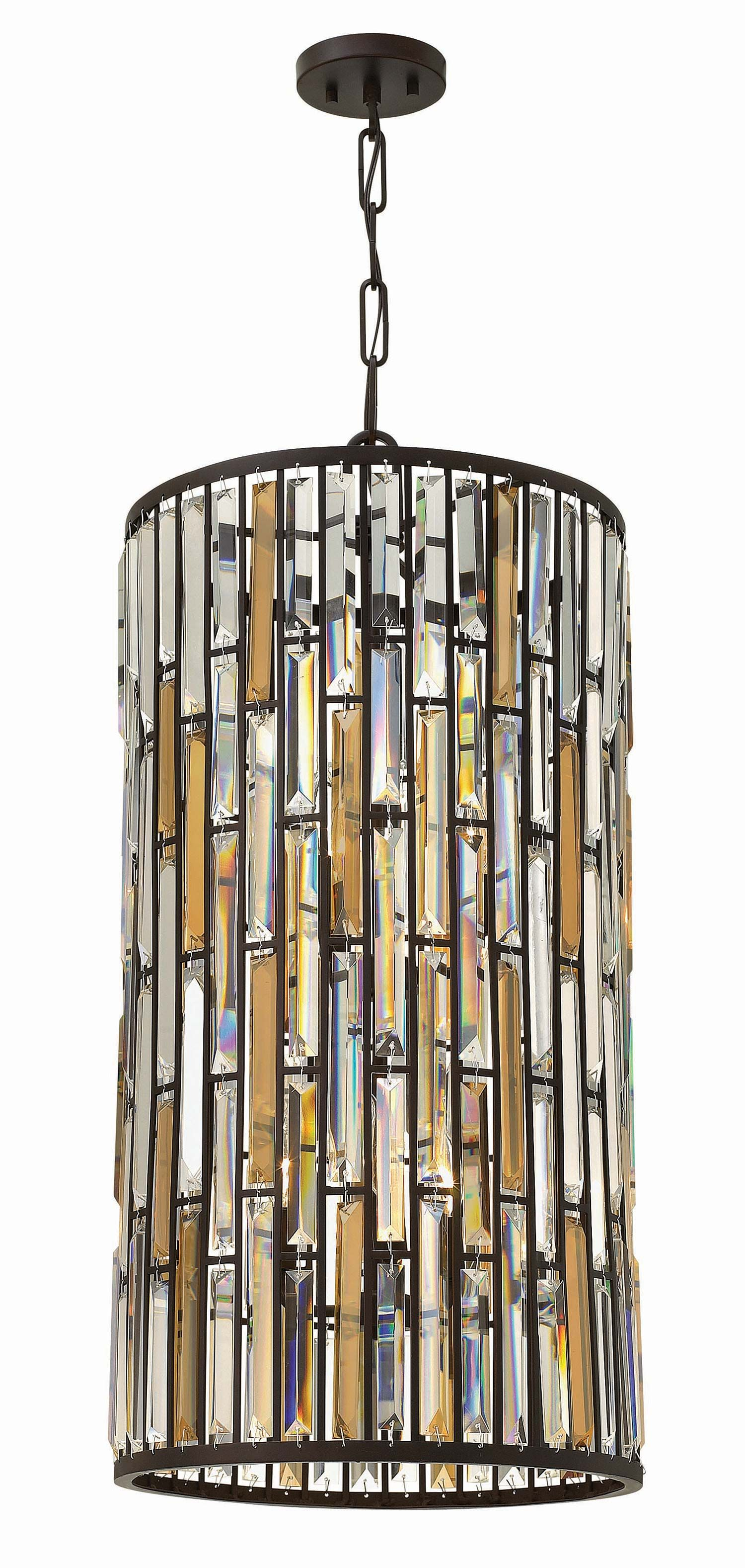 Hinkley lighting 6 light gemma foyer iridescent glass dream home hinkley fr33736 gemma traditional foyer arubaitofo Gallery