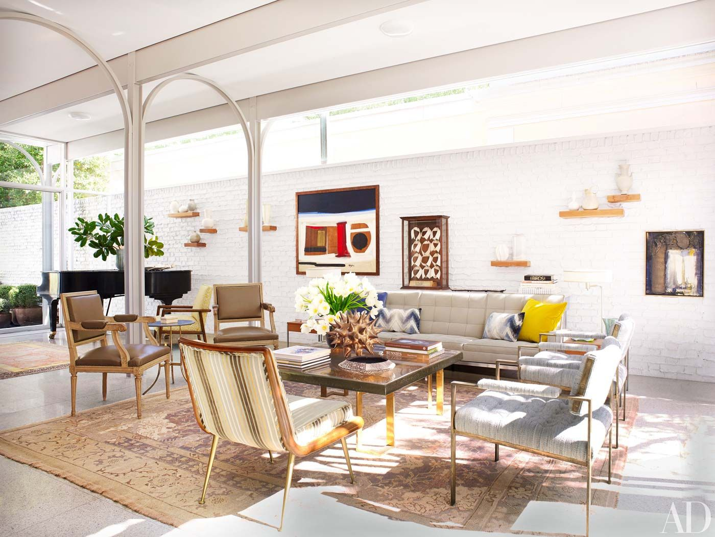 A Modernist Home in New Orleans | Living rooms, Room and Feng shui