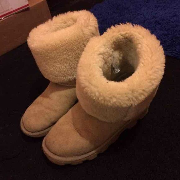 Selling this Tan tall ugg boots in my Poshmark closet! My username is: ahoranxoxo. #shopmycloset #poshmark #fashion #shopping #style #forsale #UGG #Shoes