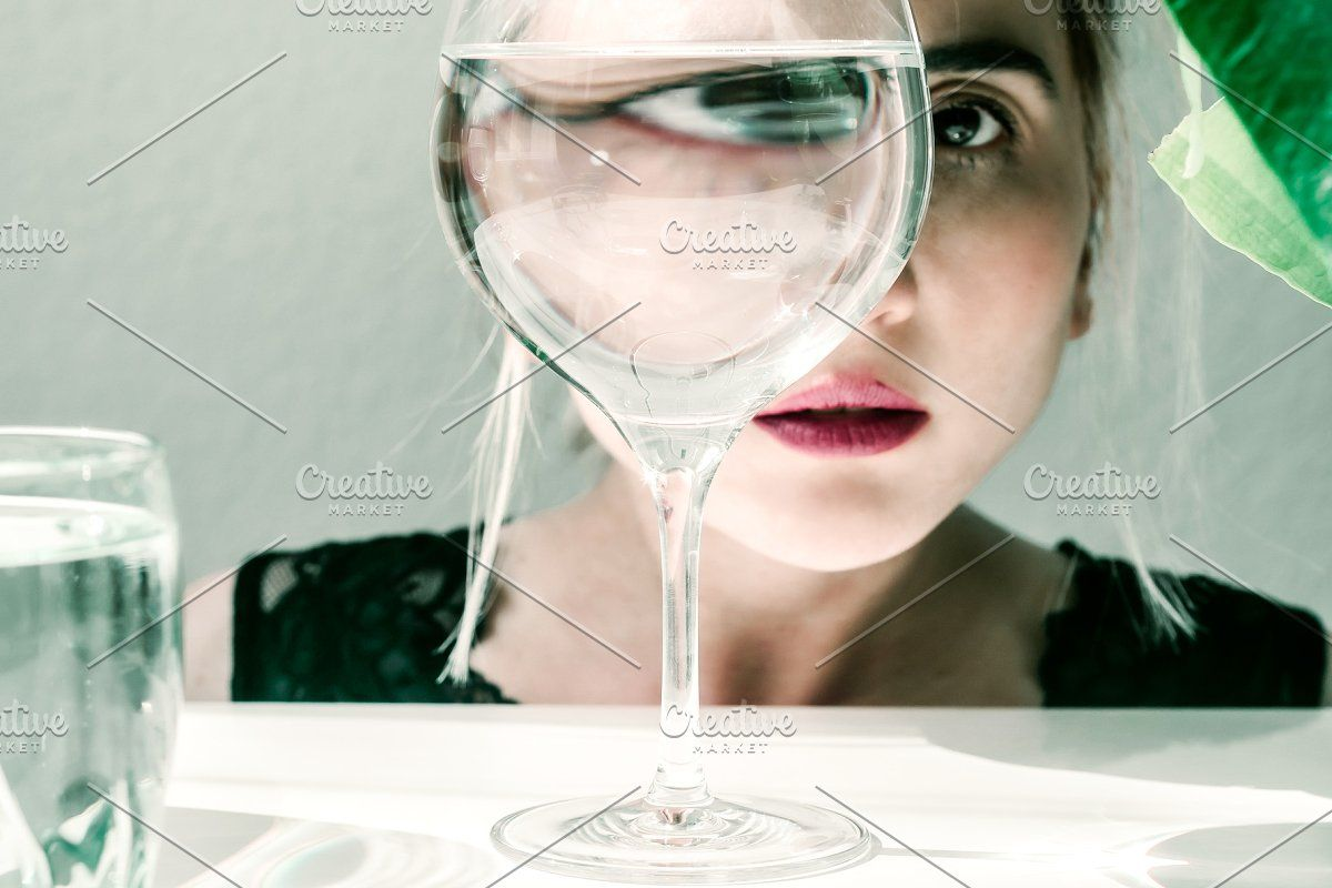 Photo of Visual concept. Fashion woman portra #Sponsored , #paid, #eye#portrait#water#gla…