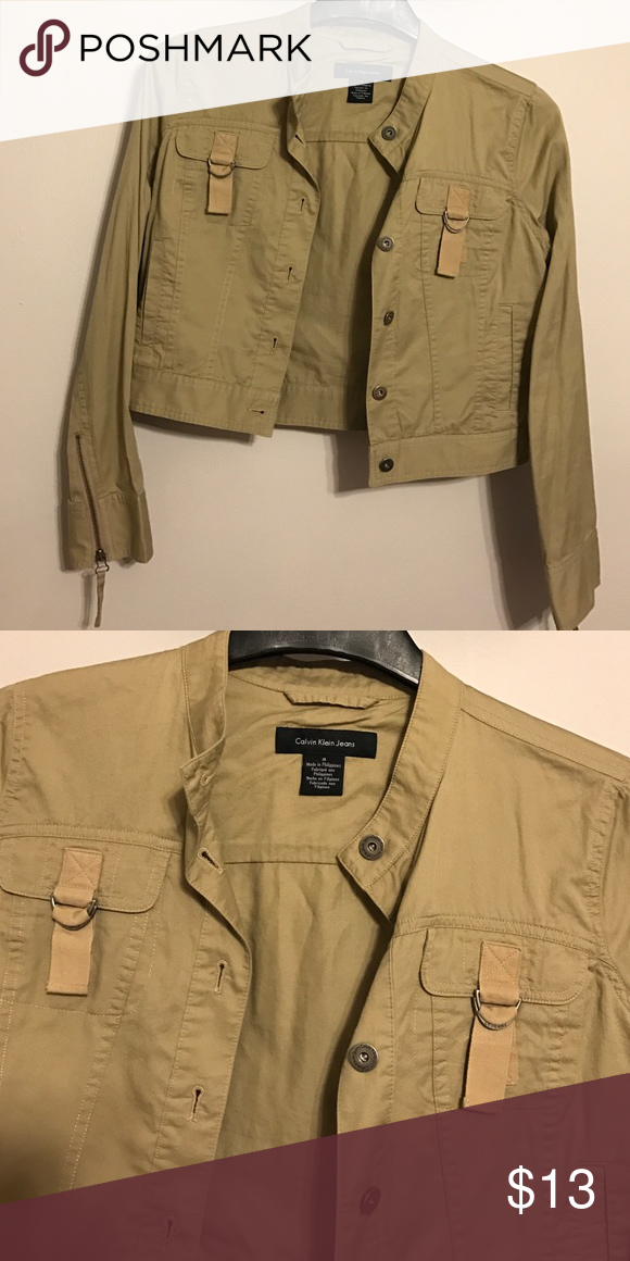 Ck spring jacket Tan colored very pretty jacket ..it's great for spring ..size medium Calvin Klein Jeans Jackets & Coats Blazers