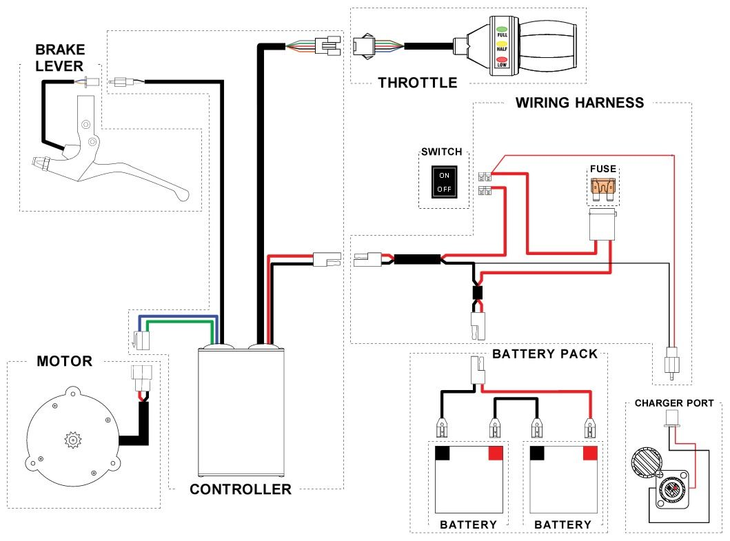 E Bike Controller Wiring Diagram Likewise 7 Pin Round Trailer Plug X12 Moreover Motor Magic Pie 2 Razor Dune Buggy