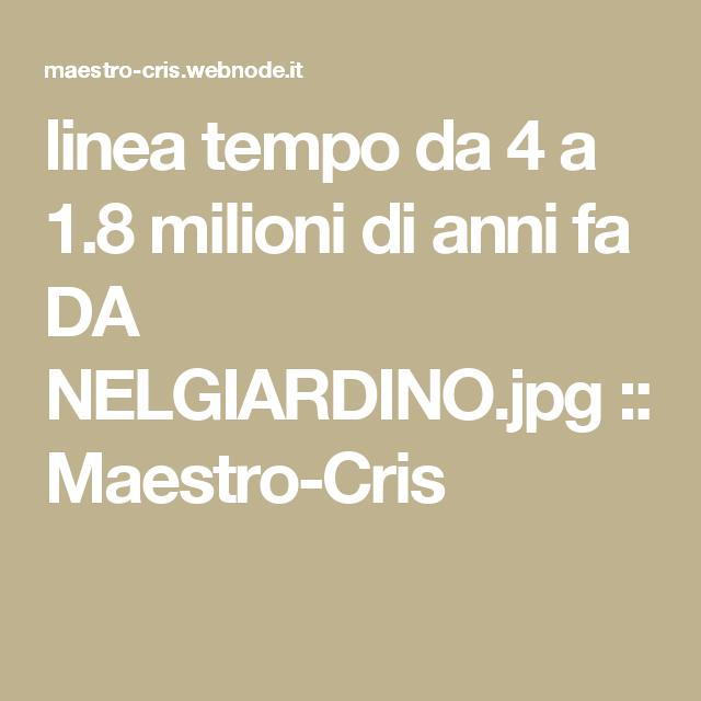 linea tempo da 4 a 1.8 milioni di anni fa DA NELGIARDINO.jpg :: Maestro-Cris