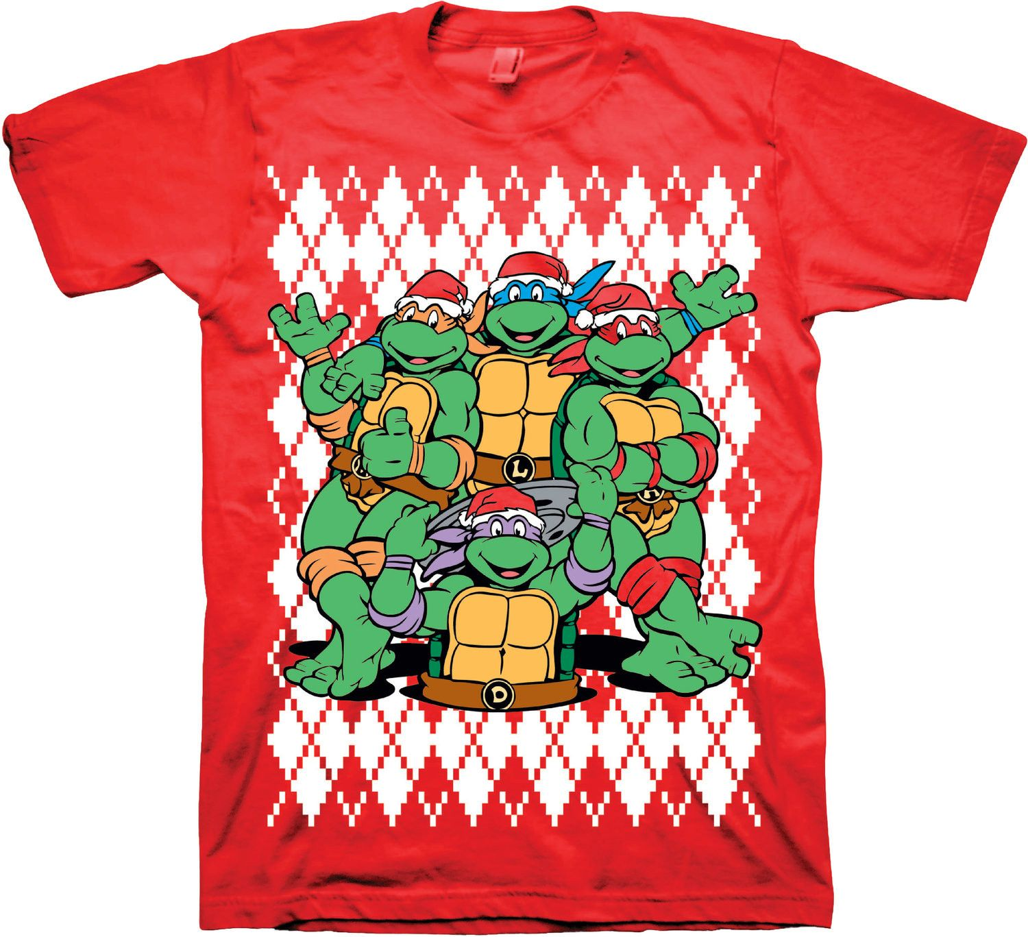 Teenage Mutant Ninja Turtles Christmas T-Shirt | Teenage mutant ...