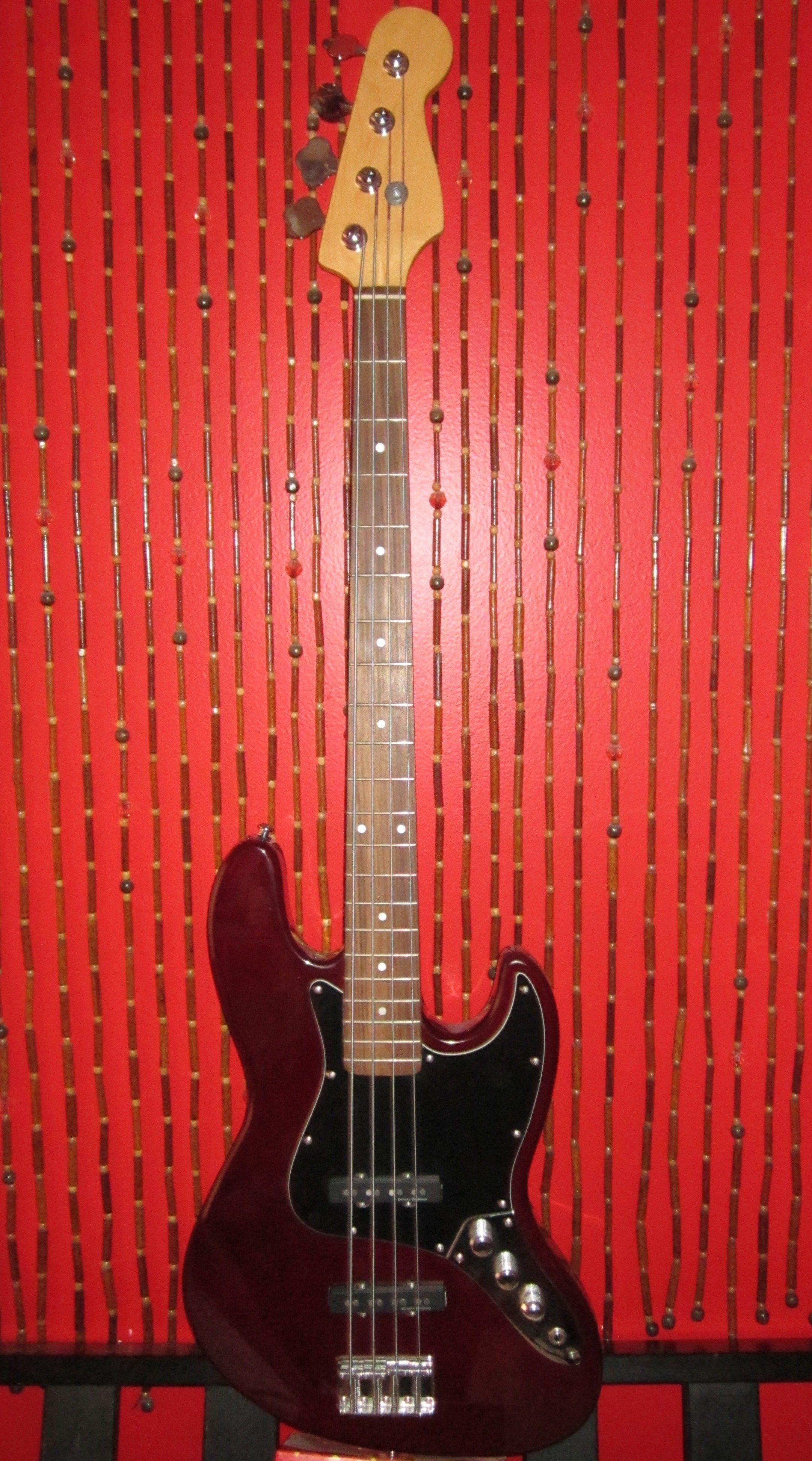 Midnight Wine Jazz Bass With Duncan Designed Pickups Flatwound Strings Bass Guitar Fender Bass Guitar