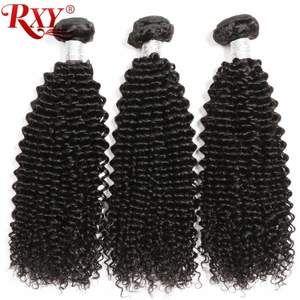 Photo of Afro Kinky Curly Hair Bundles 3pcs Brazilian Hair Weave Remy…