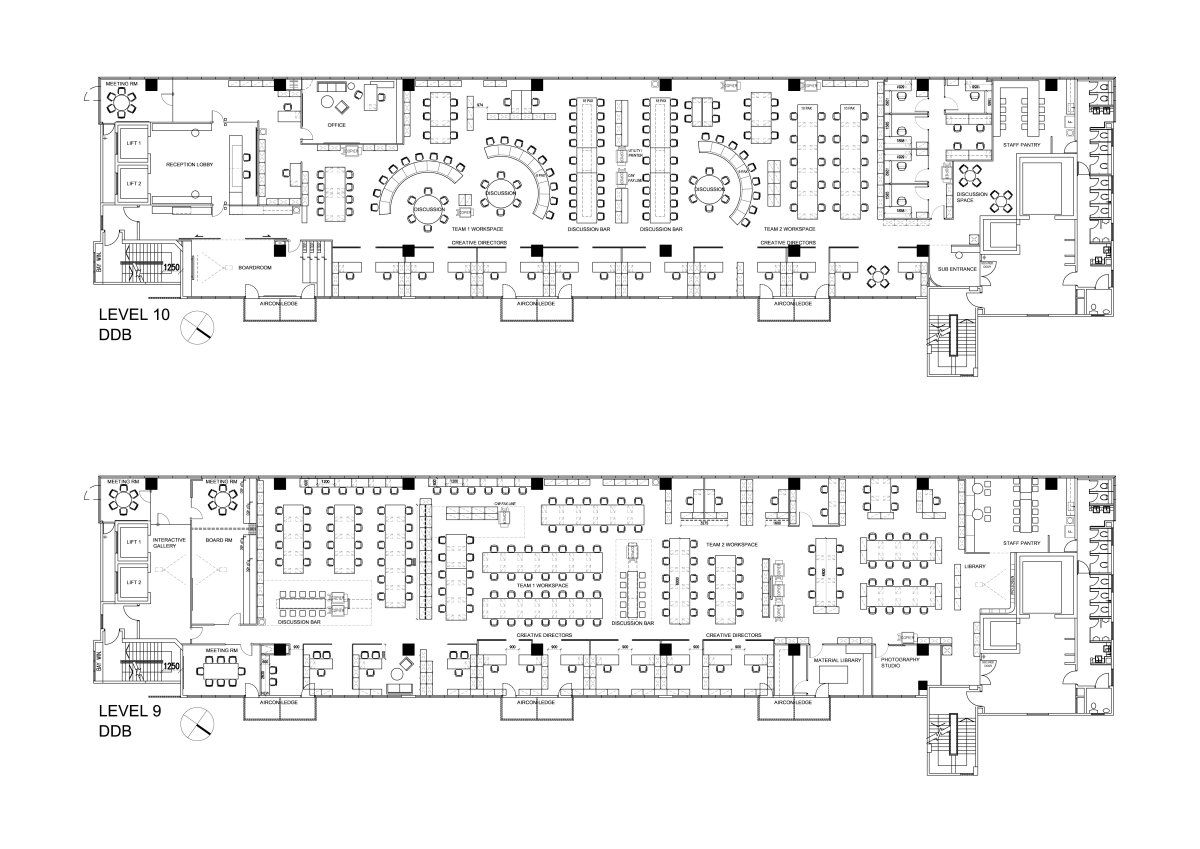 Ddb office advertising agency floor plan allegra for Office floor plan maker