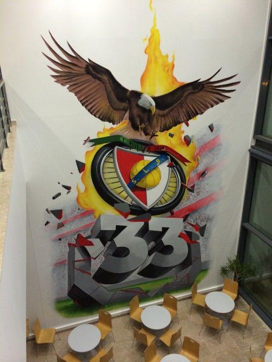 Pintura emblema do SL Benfica 3D - 33 Centro de estágio SL Benfica