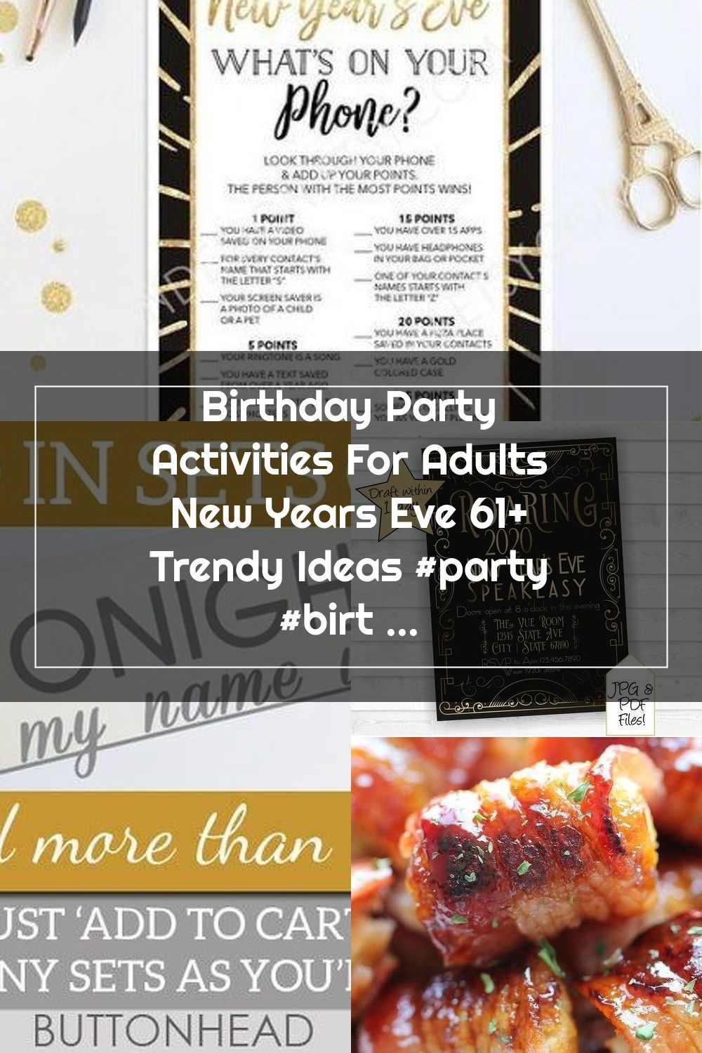 Birthday Party Activities For Adults New Years Eve 61 ...