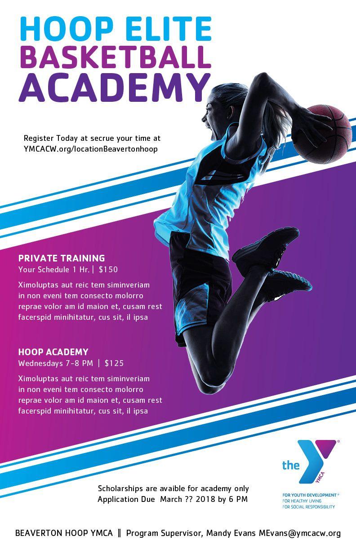 Ymca Of Columbia Willamette Poster Design Hoop Elite Department Basketball Academy Basketball Teams Basket Basketball Academy Ymca Basketball Clinics