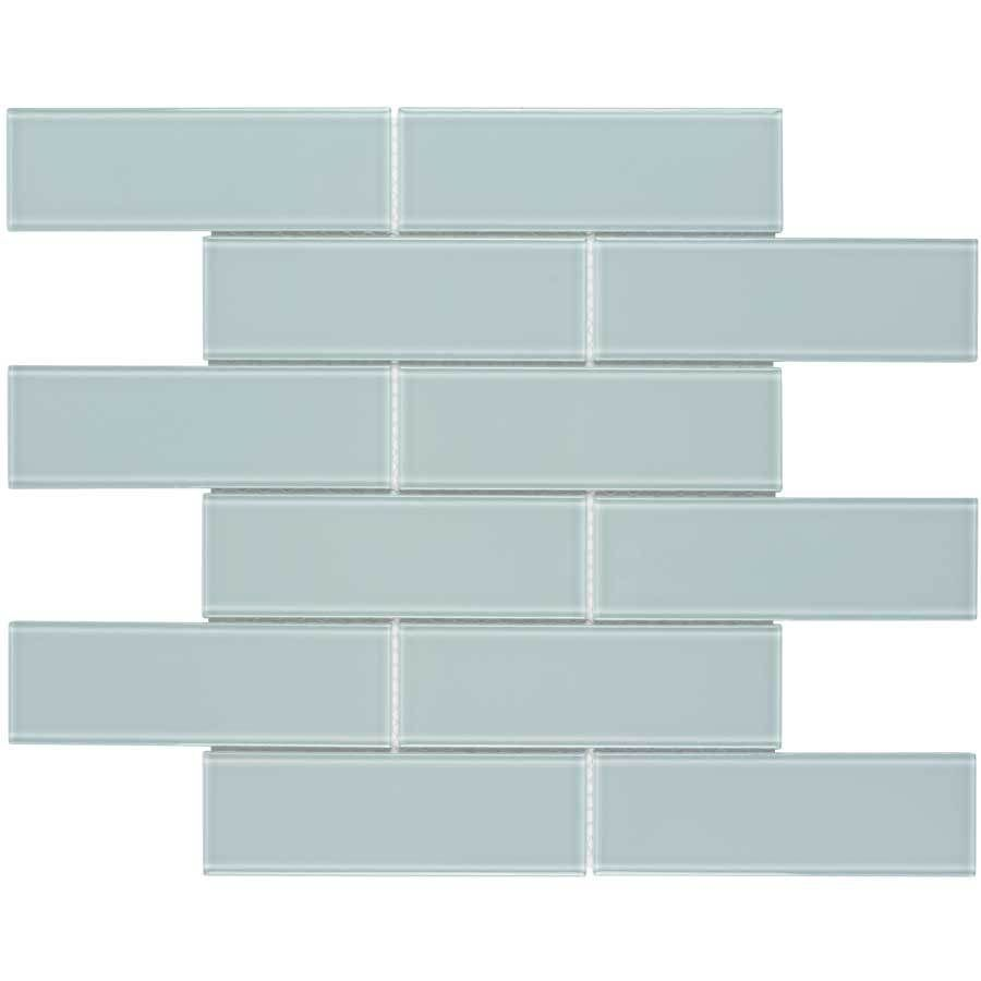 Elida Ceramica Skylight Subway Mosaic Glass Wall Tile (Common: 12-in ...