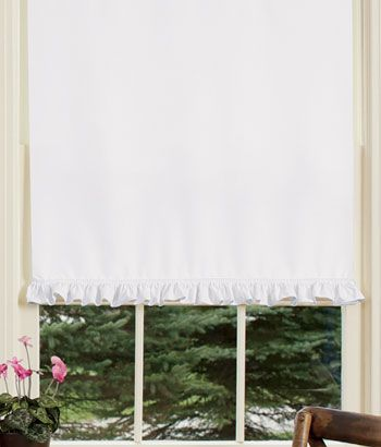 Insulated Narrow Ruffle Corded Roller Shade Window