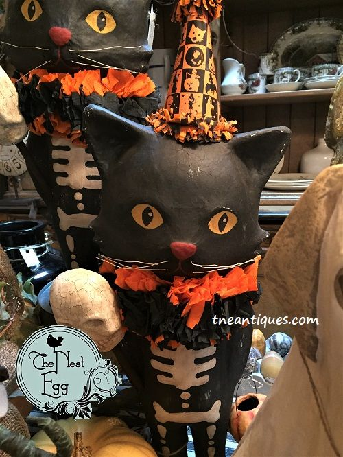 One of our newest in the Bethany Lowe collection--a fun skeleton cat - lowes halloween