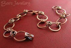 https://flic.kr/p/dB2qZZ | Antiqued copper rosebud knot bracelet - 24383f | Commissioned bracelet to match one of my rosebud knot necklaces.