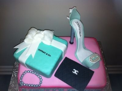 Tiffany's Jimmy Choo Chanel Victorias Secret By jenibradley on CakeCentral.com